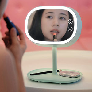 LED爱心化妆镜台灯