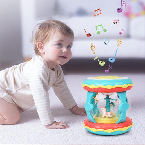 宝宝发光拍拍鼓玩具