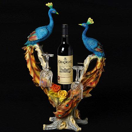 陶瓷情侣孔雀对杯
