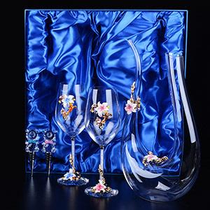 水晶香槟情侣杯定制