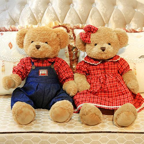 婚礼服情侣婚庆泰迪熊一对