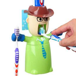 自动挤牙膏公仔