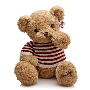 玫瑰绒正版毛衣泰迪熊