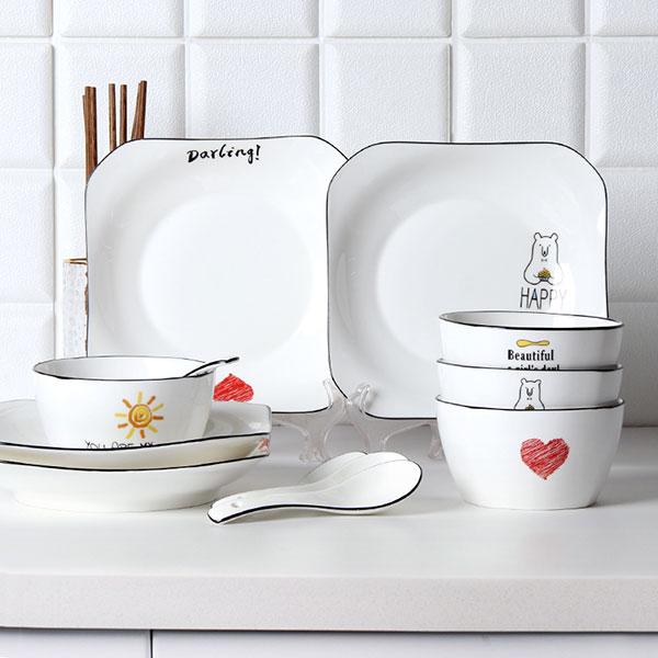 青花瓷餐具套装礼盒