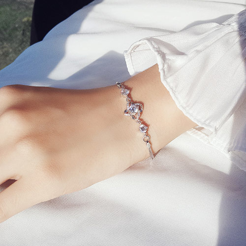 链爱925银锆石手链