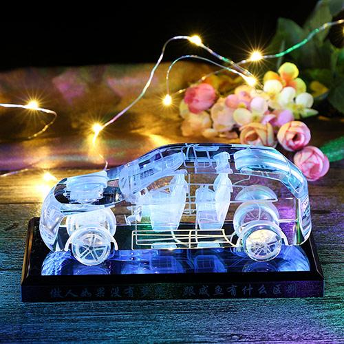 创意水晶跑车车模