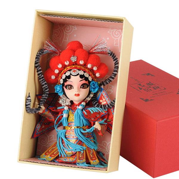 中国风京剧丝绢娃娃