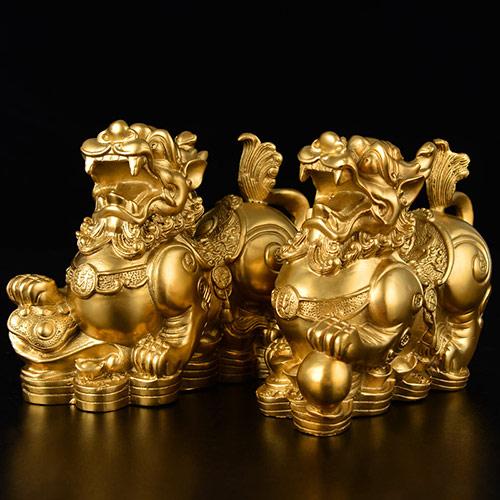 开光纯铜貔貅摆件
