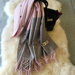 秋冬女士羊毛拉绒围巾