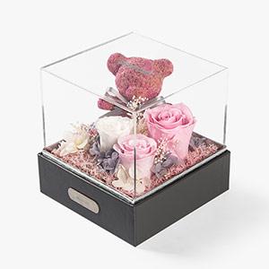香皂玫瑰+项链礼盒