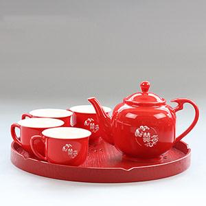 双喜结婚敬茶茶具