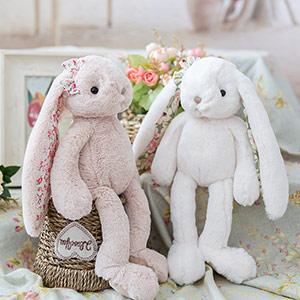 可爱垂耳兔毛绒布娃娃