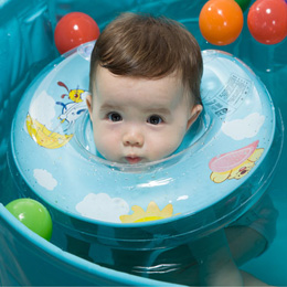 婴儿双气囊安全游泳圈
