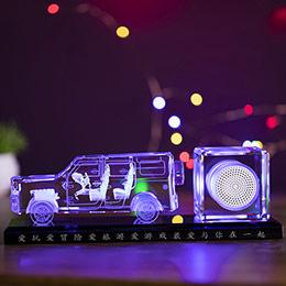 创意水晶车模摆件