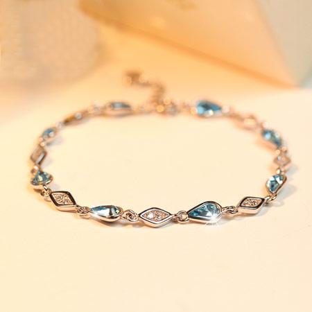 925银流星水晶手链