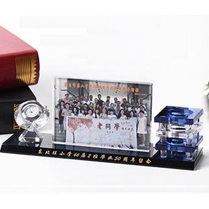 纪念水晶相框桌面摆件