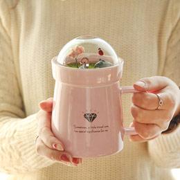 创意微景观陶瓷咖啡杯
