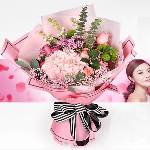 康乃馨百合花束礼盒
