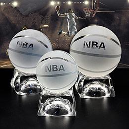 DIY发光足球篮球水晶摆件