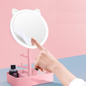 心形化妆镜台灯