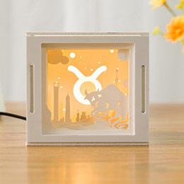 十二星座3D纸雕灯