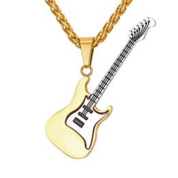 钛钢个性吉他项链