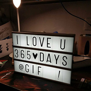 DIY字母照片灯