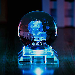 十二星座发光水晶球
