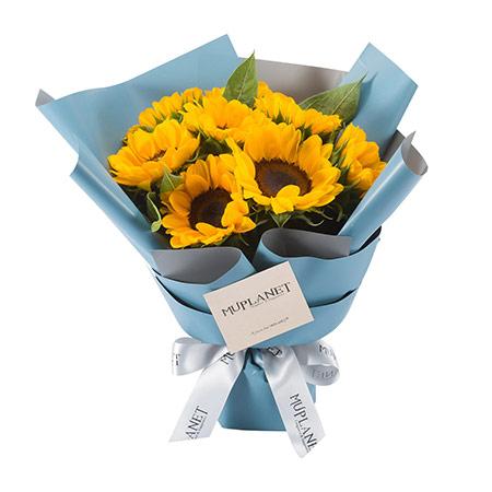 向日葵鲜花花束图片